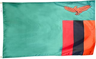 product image for Annin Flagmakers Model 199481 Zambia Flag 3x5 ft. Nylon SolarGuard Nyl-Glo 100% Made in USA to Official United Nations Design Specifications.