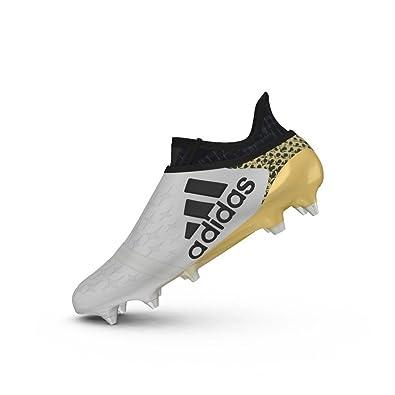adidas X 16+ Pure Chaos SG Football Boots - White Core Black Gold Metallic  - Size 11  Amazon.co.uk  Shoes   Bags 9399f594ed44