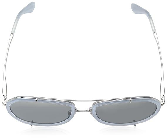 Womens 0DG2161 05/88 Sunglasses, Opal Azure/Silver/Greymirrorsilvergradient, 55 Dolce & Gabbana