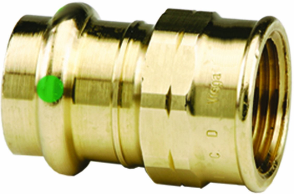 Viega 79325 ProPress Zero Lead Bronze Adapter with Female 1-Inch by 3/4-Inch P x Female NPT by Viega