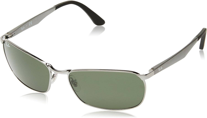 RAY-BAN RB 3534 Gafas de sol, Gunmetal, 62 para Hombre