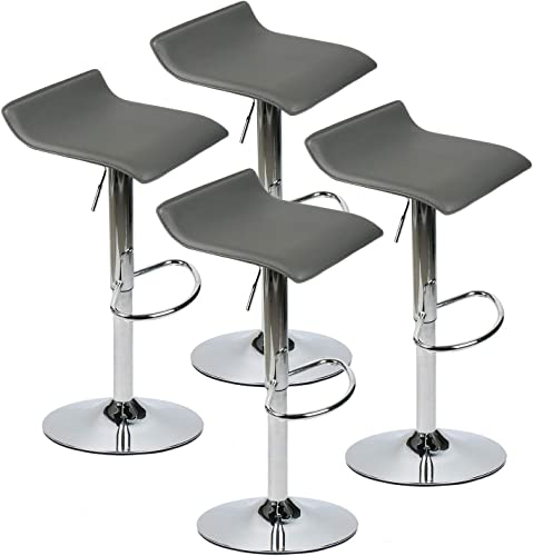 Set of 4 Adjustable Swivel Barstool
