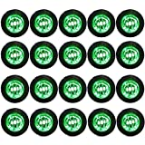 Red Hound Auto 20 Clear/Green LED Side Marker Lights 3/4'' Clearance Truck Trailer Pickup Extra Bright