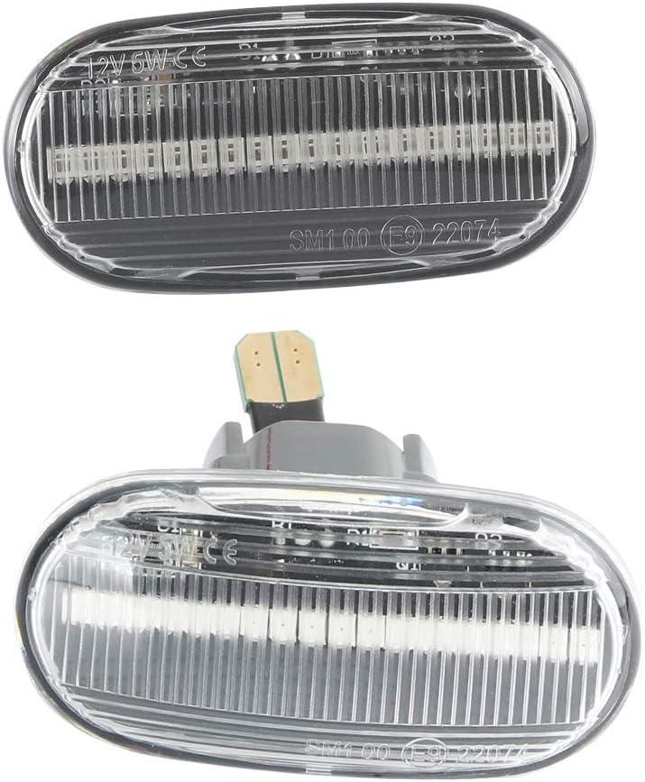 amber color direction indicator lights 1 pair OZ-LAMPE LED side marker turn lights for HOND-A Civic Del Sol S2000 Acur-a Integra Transparent lens