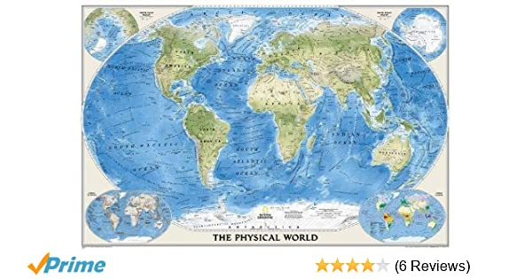 National geographic world physical wall map laminated 4575 x national geographic world physical wall map laminated 4575 x 305 inches national geographic reference map 9780792250005 reference books amazon publicscrutiny Images