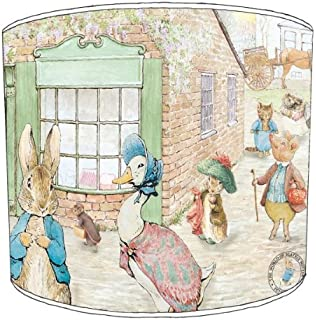 Premier lampshades table beatrix potter peter rabbit childrens premier lampshades ceiling beatrix potter peter rabbit and friends childrens lampshades 10 inch sciox Image collections