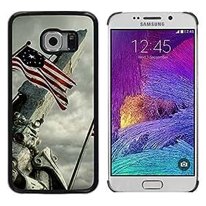 EJOY---Cubierta de la caja de protección la piel dura para el / Samsung Galaxy S6 EDGE / --Bandera de EE.UU