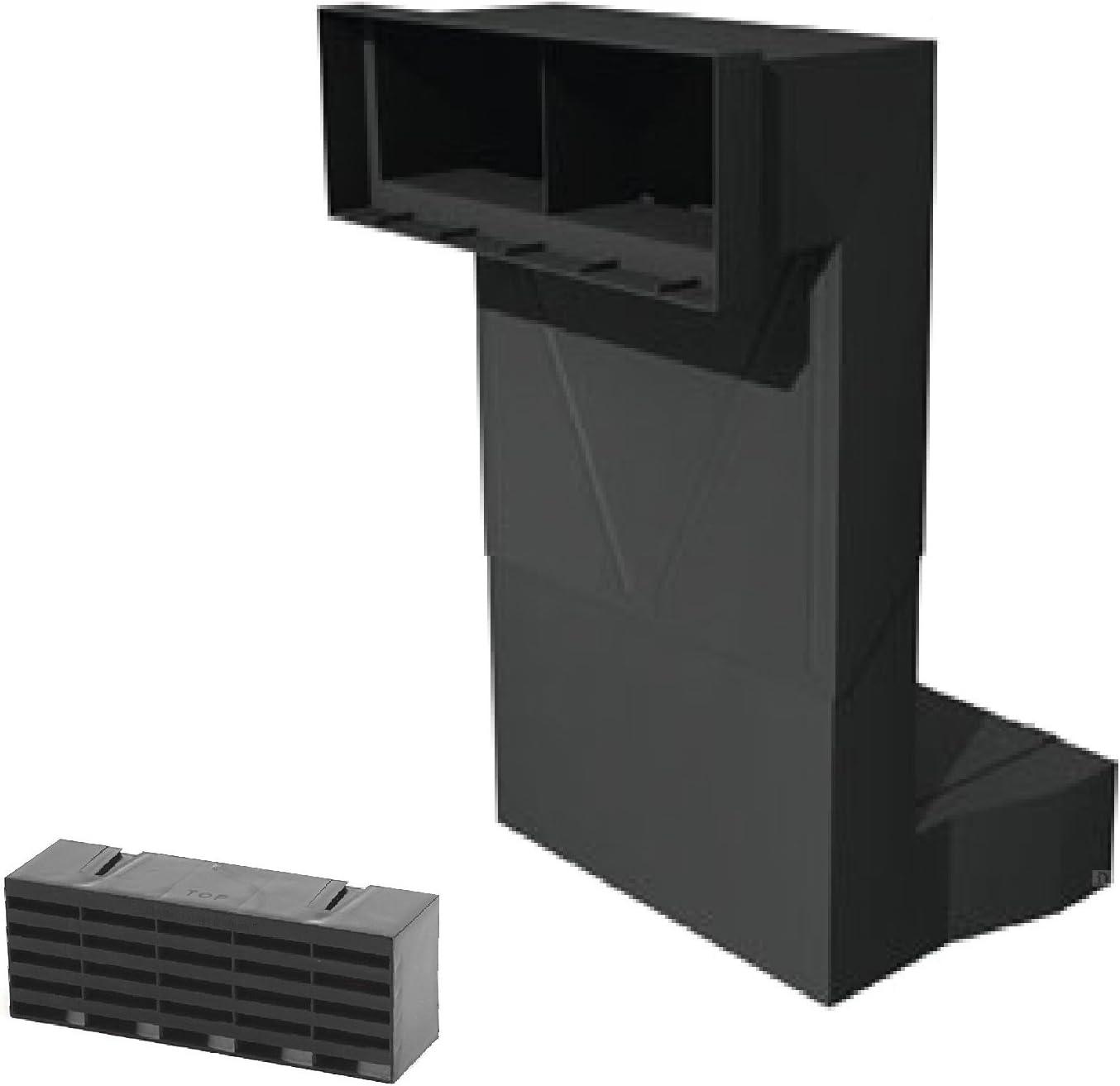 Timloc Telescopic Underfloor Cavity Vent With Air Brick Ventilator Black