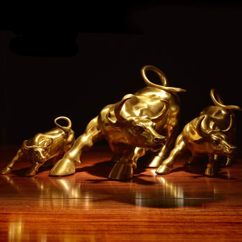 Lizipai Messing Wall Street Bull Statue Startseite Wohnzimmer B/üro Dekoration viel Gl/ück und Reichtum Thanksgiving//Weihnachten handgefertigte Geschenk