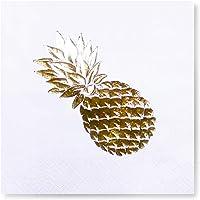 Story Altın Varak Ananas 16'lı Beyaz Peçete