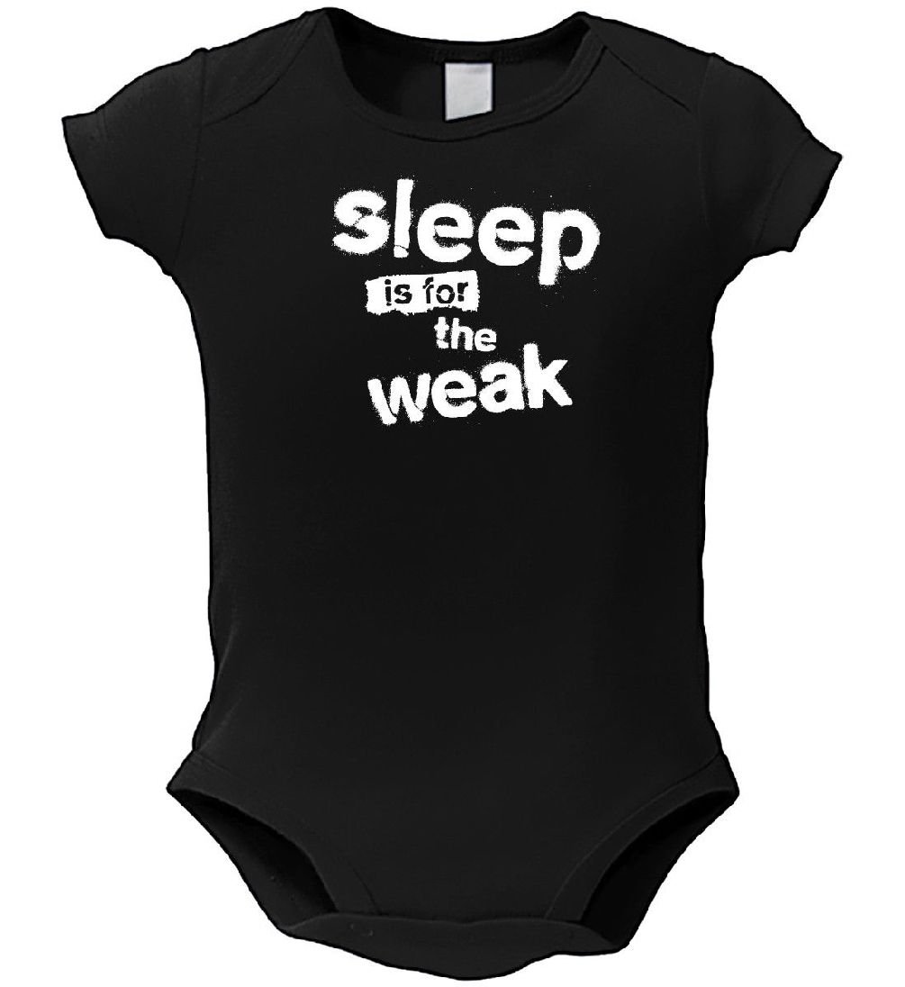 Dustin clothing series Sleep Is For The WEAK Baby Boys Girls Toddlers Funny Romper 0-24M
