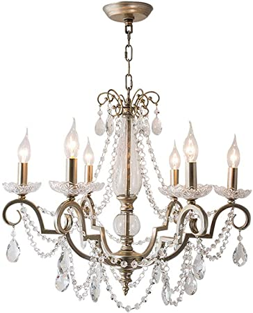 Traditional Crystal Chandelier Interior Lighting 5 Light Candles Simple Chandelier