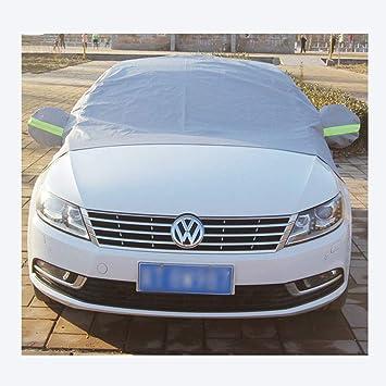 Cassiel Y Wasserdichte Abdeckung f/ür die Motorhaube mit Halbschale und reflektierendem Sicherheitsgurt f/ür alle Jahreszeiten,Gray