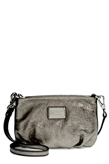 f349749f2a Amazon.com: Marc by Marc Jacobs Q Percy Cross-Body Bag Gunmetal: Shoes