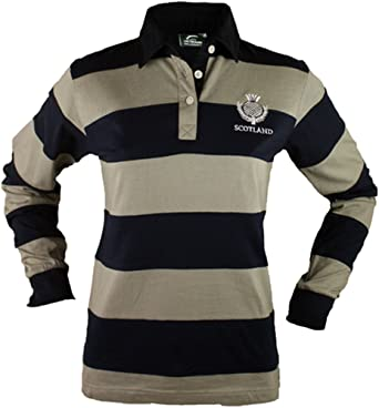 Jerzees Ladies Cotton Long Sleeve Rugby Shirt