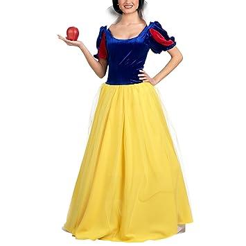 cb96a0e191825 Biancaneve - Costume Di Biancaneve Per Adulta - Eventi Larp O Feste A  Maschera - S  Amazon.it  Giochi e giocattoli