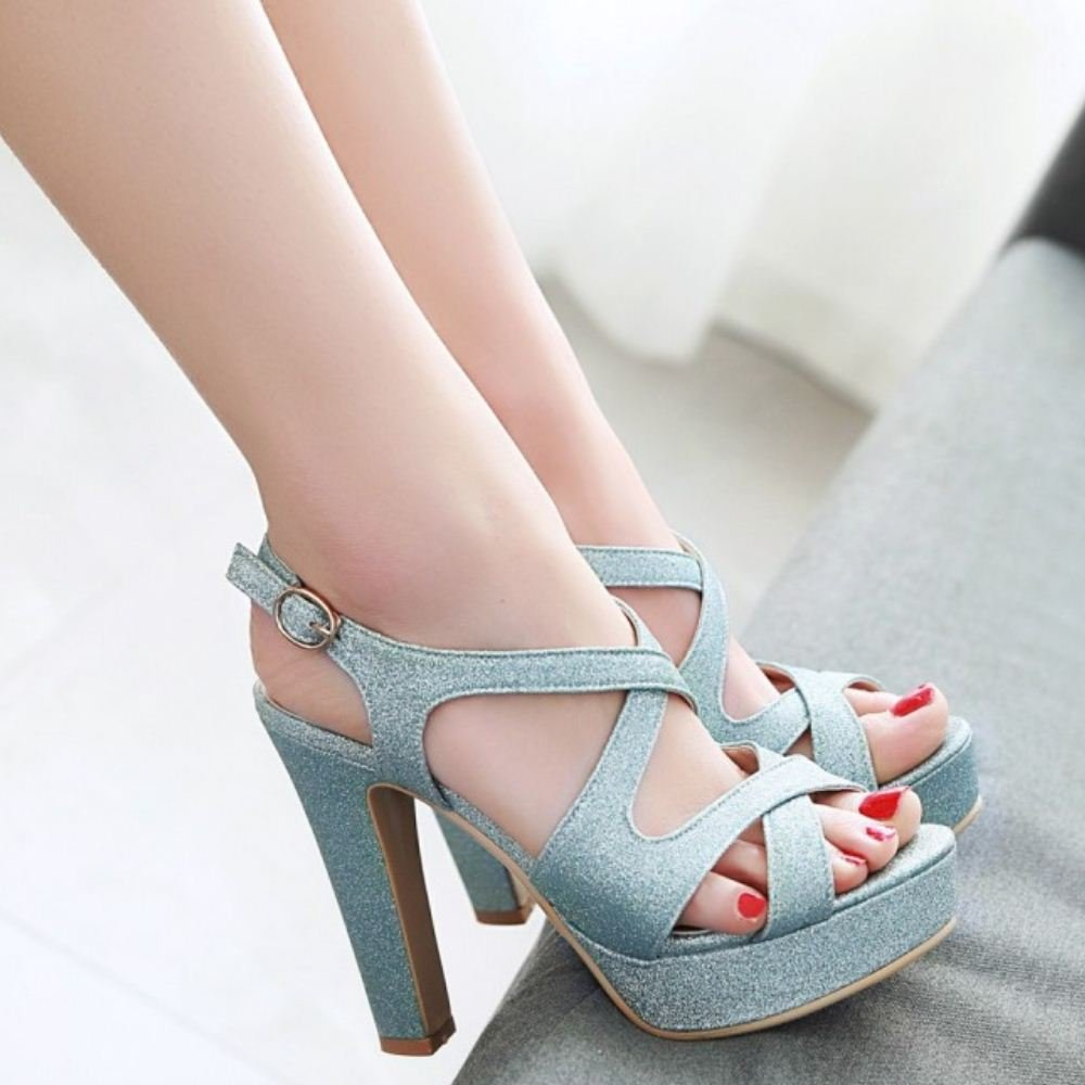 Melady Women Fashion Platform Sandals B07CP3V54M 9.5 EU US / 41 EU 9.5 / 26 CM|Blue 9d301c