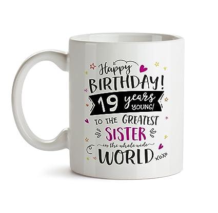 Amazon 19th Happy Birthday Gift Mug To My Special Sister