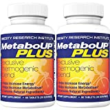 Lipozene MetaboUP Plus - Thermogenic Weight Loss Fat Burner With Green Tea and Cayenne Extract For Energy Boost - 2 60 Count Bottles