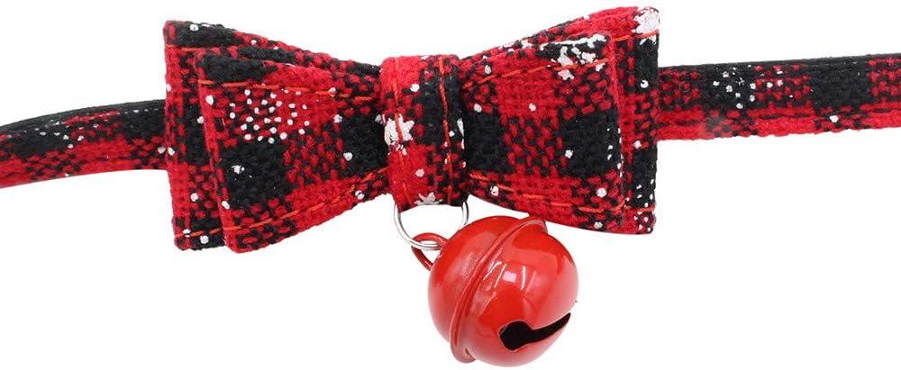 Hundewelpen-Haustier-Katzen-Kragen-Versorgungsmaterialien Weihnachten Justierbares Hundehalsband mit Glocke Winkey  Hundehalsband