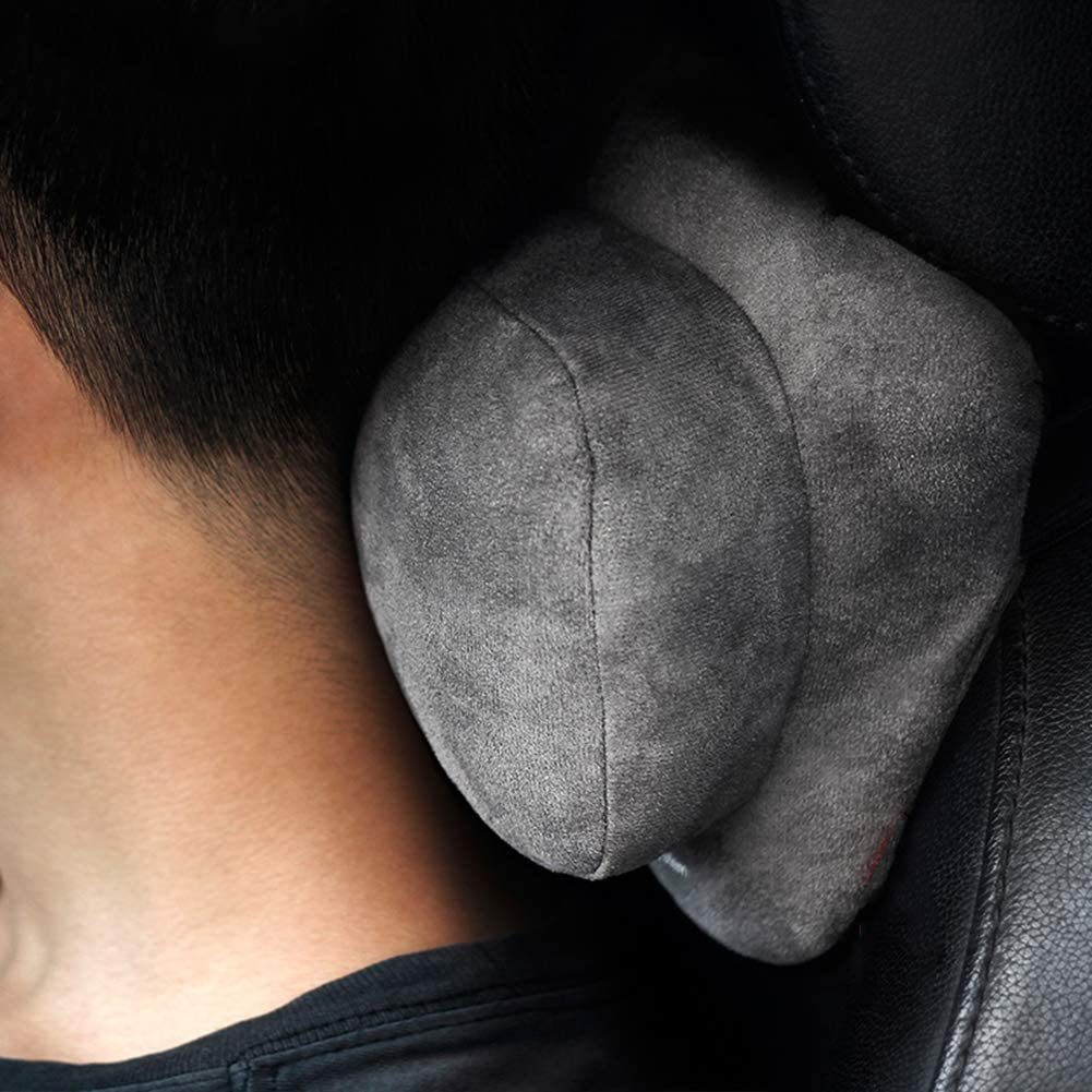 KTYX Car Neck Pillow Headrest Ergonomic Driving Pillow for Car Seat Vehicle Auto Accessories Comfortable and Adjustable Neck Support Soft and Breathable Neck Pain Relief