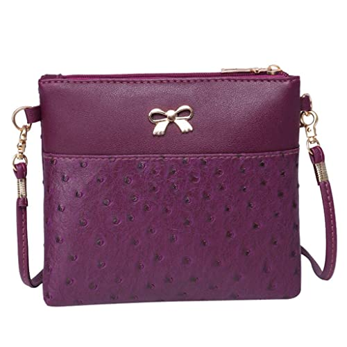 ALIKEEY Mujeres Arco Decoración Crossbody Bolsa Hit Color ...