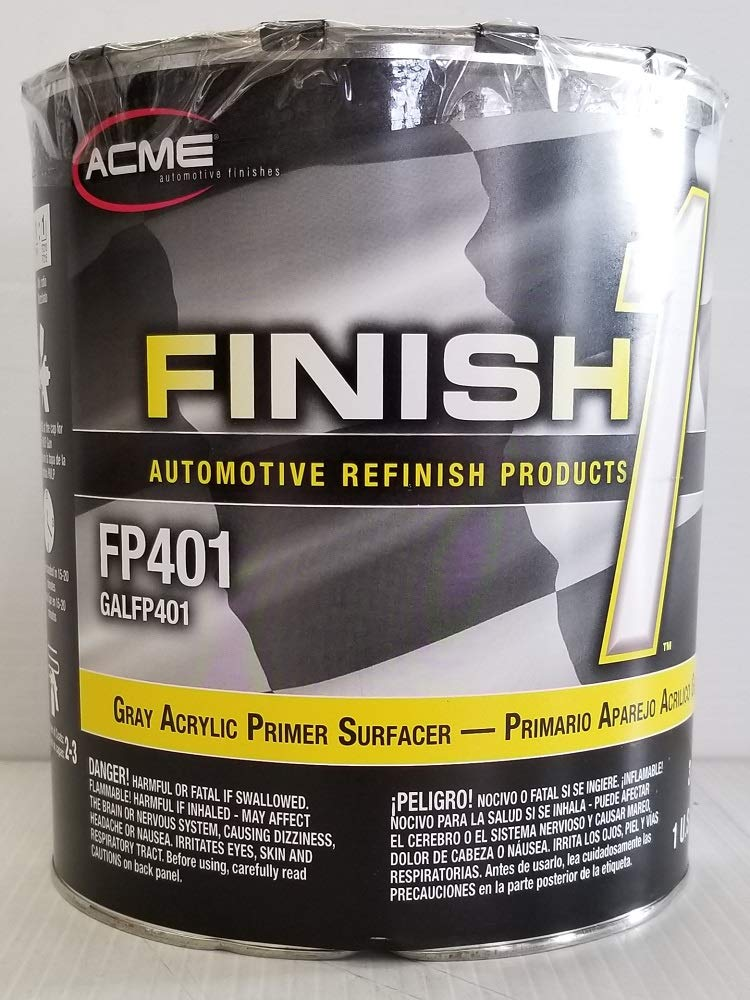 Finish1 Sherwin Williams FP401 Gray Acrylic Primer Surfacer Auto Paint Restoration car Paint Supplies