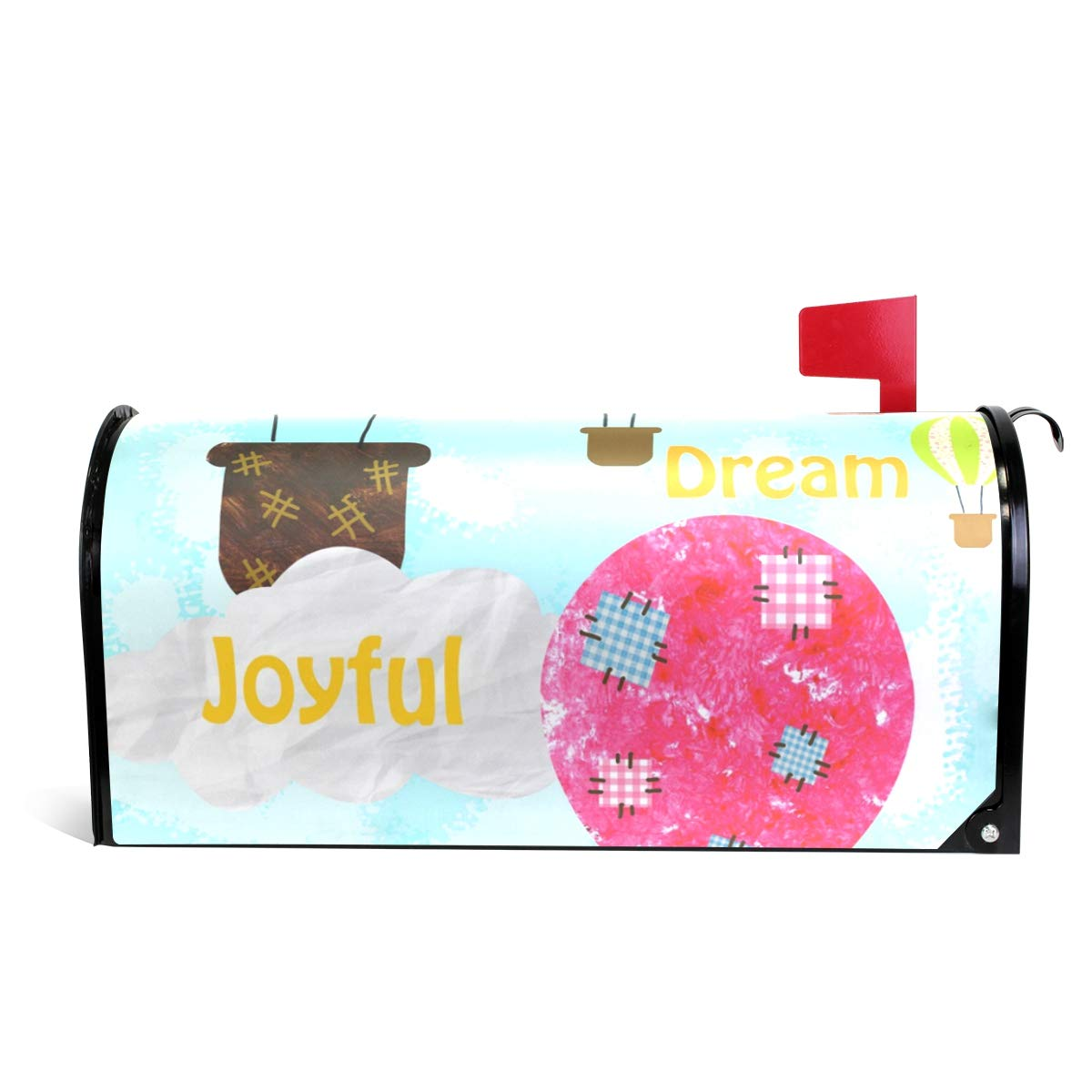 LORVIES Happy Hot Air Balloons Magnetic Mailbox Cover Oversized 25.5 x 18 Inch