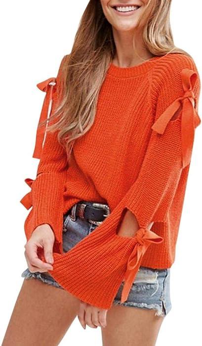 Halloween Promotion! Clearance! Teresamoon Women Solid Long Sleeve Loose Knitted Sweater Jumper Knitwear Outwear