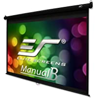 Elite Screens Manual B Series, 120-inch Diag. 16:10, Pull Down Projection Manual Projector Screen with Auto Lock, M120X