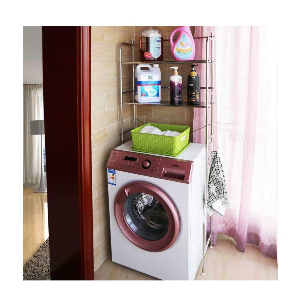 Ansel Kitchen Storage Rack Over Washing Machine 2 Layer Practical Stainless Steel Bathroom Shelf Toilet Rack-68x29x165cm Organisation