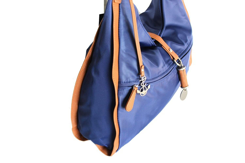a shoulder bag beach bag woman Army 470 blue