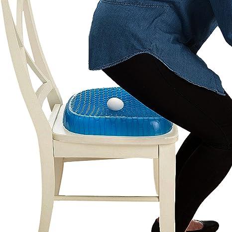 Tookie - Cojín de gel para asiento de silla, portátil, cómodo, almohadilla de asiento de goma, ...