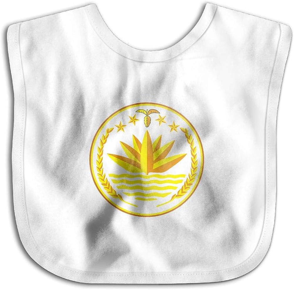 National Emblem of Bangladesh Personalized Scarf Bib Feeding /& Teething Fancy Baby Bibs and Burp Cloth Polyester Cotton
