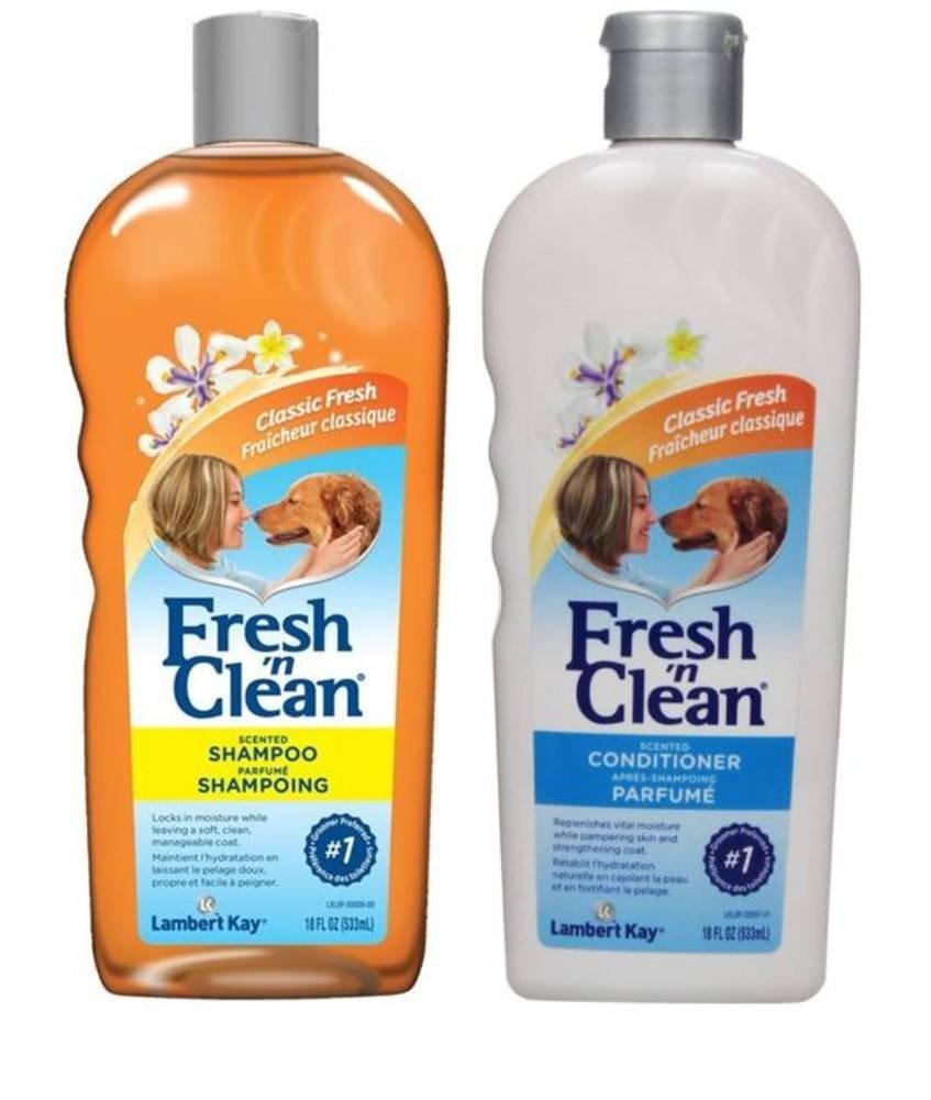 Fresh 'N Clean Classic Shampoo & Conditioner Bundle: (1) Fresh 'N Clean Classic Fresh Scented Shampoo, and (1) Fresh 'N Clean Classic Fresh Scented Conditioner, 18 Ounces. Each