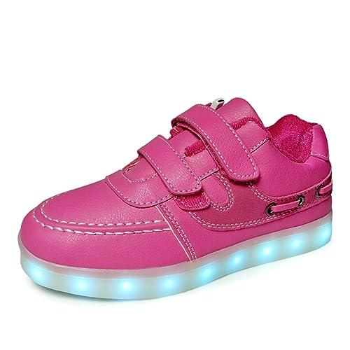 Rose 7 Couleur Sneakers Lumière Lumineux Clignotants Sports Charge de mode Baskets LED USB Filles Enfant Garçons Chaussures PvTApJe