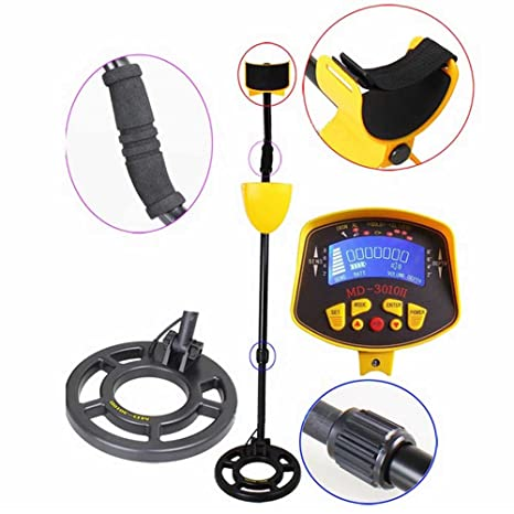 Amazon.com : Eteyo MD-3010 II Metal Detector with LCD Display Gold Digger Headphone Connection : Garden & Outdoor