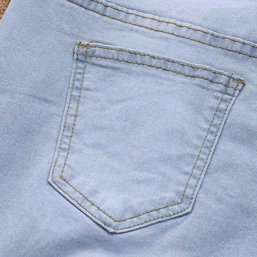 Strappati Jeans Fit Matita Pantaloni Pantaloni A mambian Donne Stirata Sportiva Skinny Slim Vita Stretch Scarni Alta YwRnTxaqH