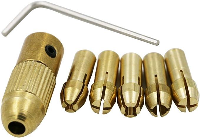 Rod Set for 3-Jaw Mini Drill Bit M8x0.75 2PCs Grinder Chuck Accessory Short Drill Collet Chuck Electric Grinder M8 x 0.75 Chuck