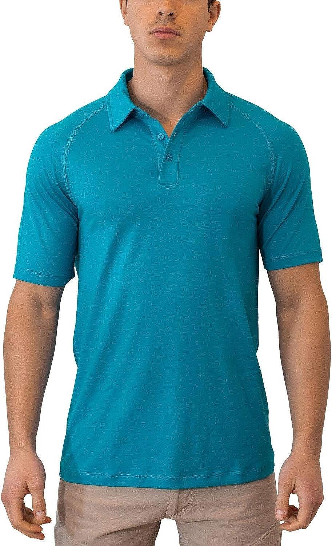 Woolx Mens Summit Lightweight Breathable Merino Wool Short Sleeve Polo Shirt
