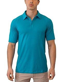 c8b7835a WoolX Summit - Men's Merino Wool Polo Shirt - Short Sleeve - Lightweight -  Breathable