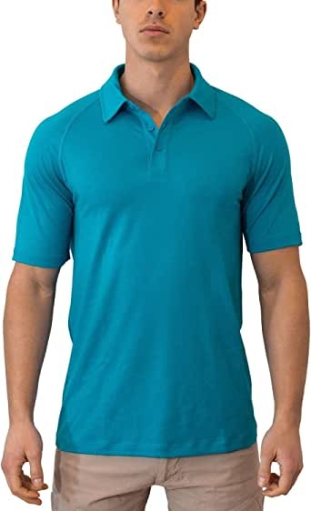 WoolX Summit - Men's Merino Wool Polo Shirt - Short Sleeve - Lightweight - Breathable