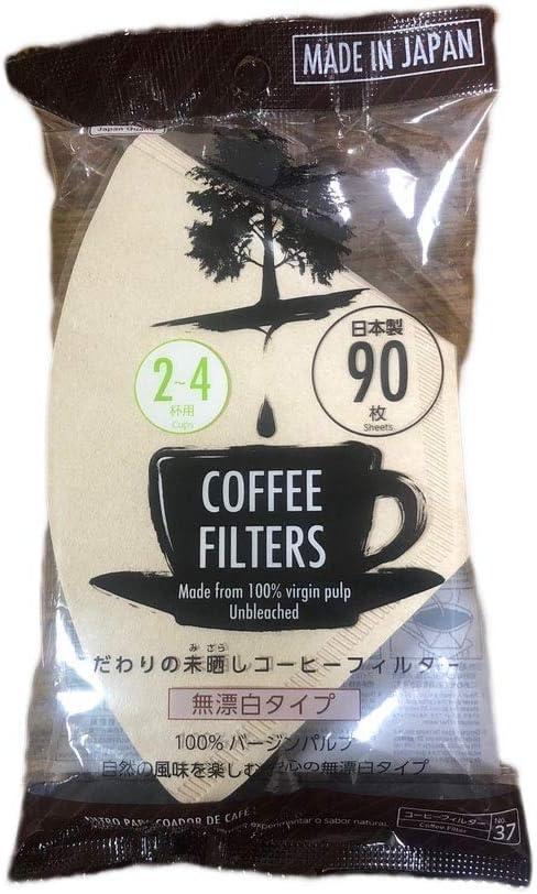 90 Sheets Disposable Coffee Filters 2 zu 4 Cups gemacht aus 100% Virgin Pulp gemacht bei Japan