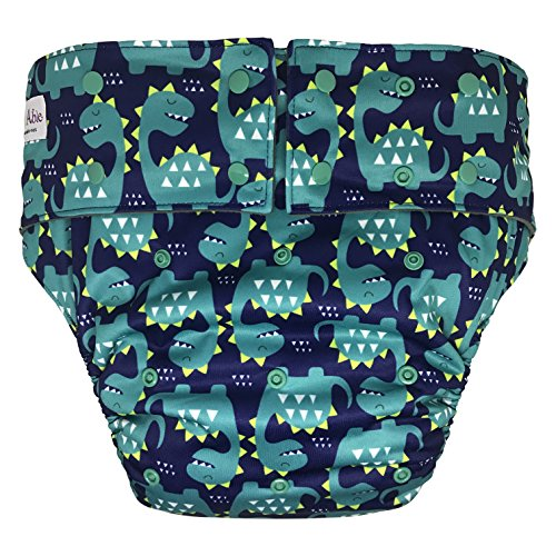 Reusable Adult Diapers for Women and Men – Teen Adult Special Needs Incontinence Cloth Diaper (Dinosaur)