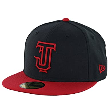 2677a7d98d69f1 Image Unavailable. Image not available for. Color  New Era 59Fifty Toros de  Tijuana Black Scarlet Outline Fitted Hat ...