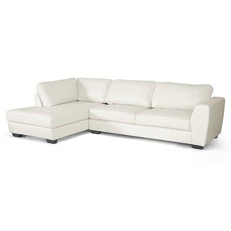 Amazon Baxton Studio Orland Leather Modern Sectional Sofa Set