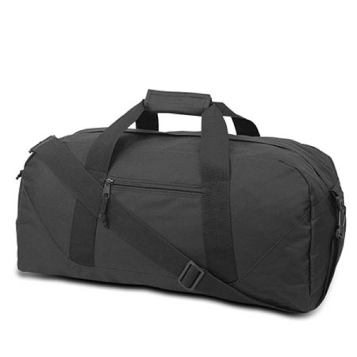 LARGE SQUARE DUFFEL, Black, Case of 12 by DollarItemDirect