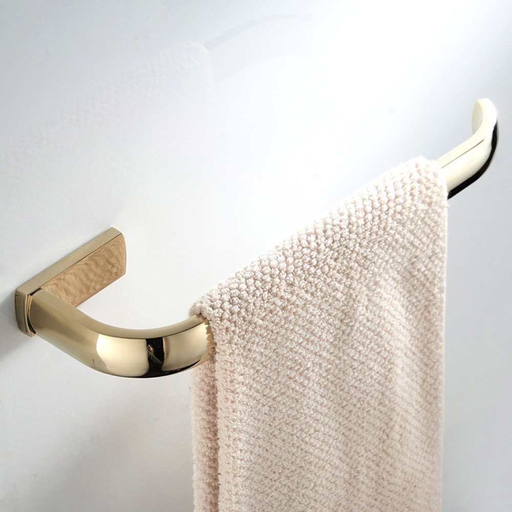 BigBig Home Brass Towel Ring Gold Finish Simple Style, Bath Accessory Hardware, Wall Mounted