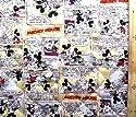 <Qキャラクター・キルティング生地>ミッキー&ミニーマウス(ベージュ)#74ディズニーの商品画像