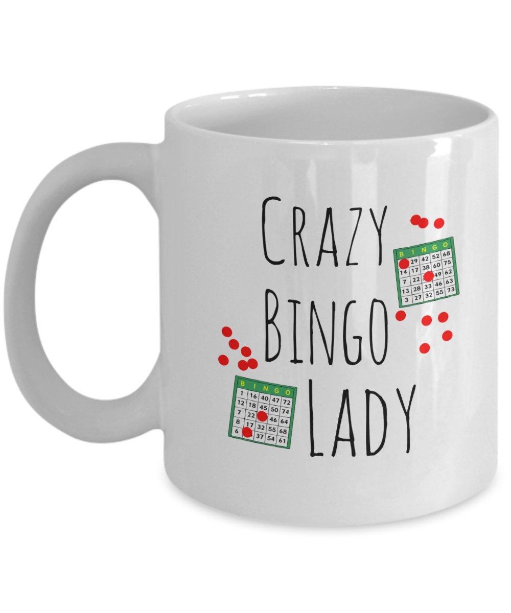 Crazy Bingo Lady Gift Coffee Mug